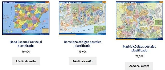 Comprar mapas plastificados