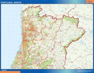 Mapa De Carreteras Portugal.Mapa Portugal Norte Carreteras Plastificado