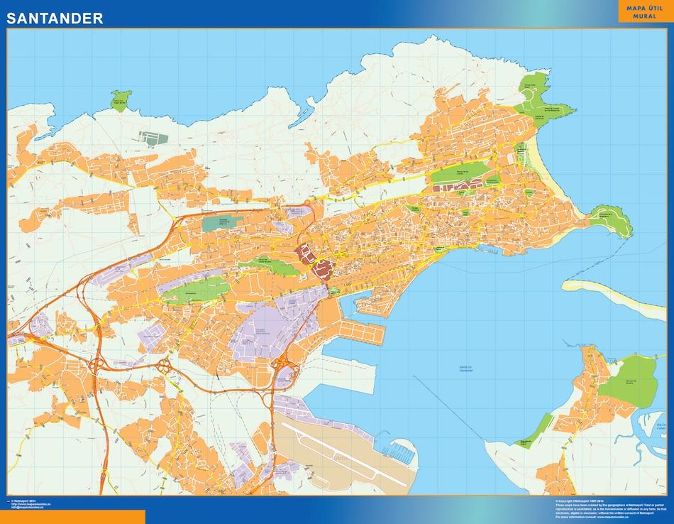 Mapa De Sevilla Capital Callejero.Mapa Santander Callejero Plastificado