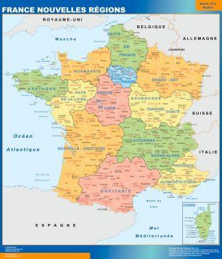 Mapa Politico De Francia 2019.Mapa De Francia Politico Plastificado Mapas Plastificados